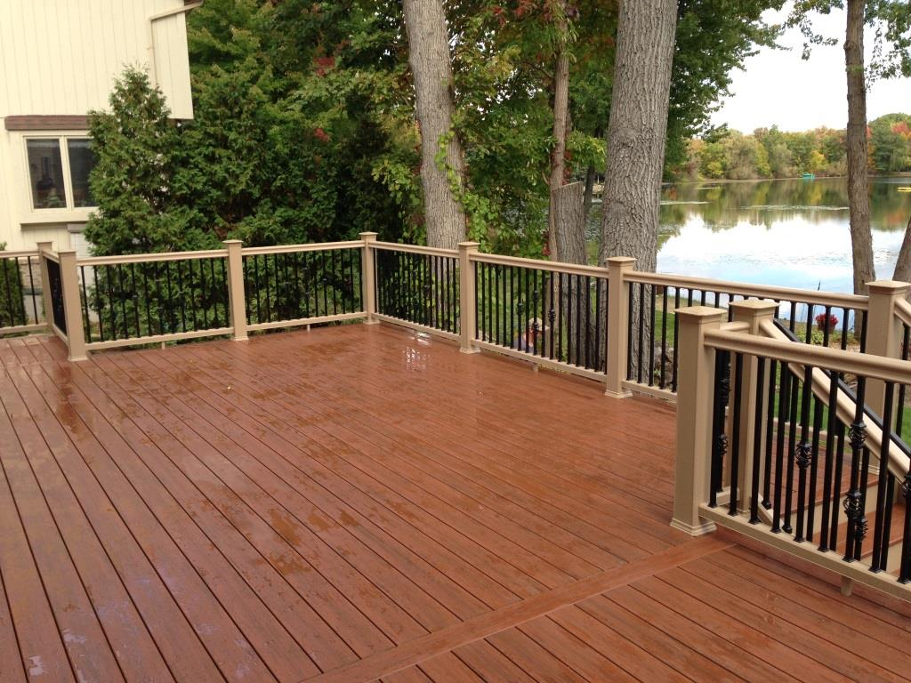 Certadeck composite decks for Composite deck railing